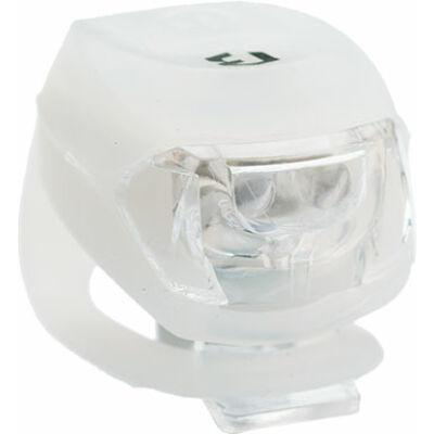 Lámpa BIKEFUN PIXIE első  2 fehér LED 2 funkció, szilikon, fehér - JY-267F-2B-W