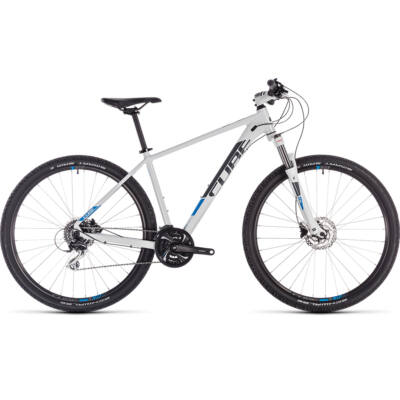 "CUBE AIM  RACE 29"" 2019 WHITE/BLUE"