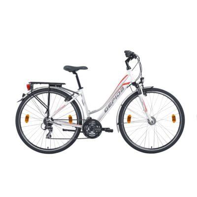GEPIDA ALBOIN 200 NŐI 2020 FEHÉR/PIROS trekking kerékpár