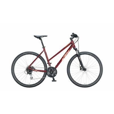 KTM LIFE TRACK NŐI DARK RED (CORAL)  2021 cross trekking kerékpár