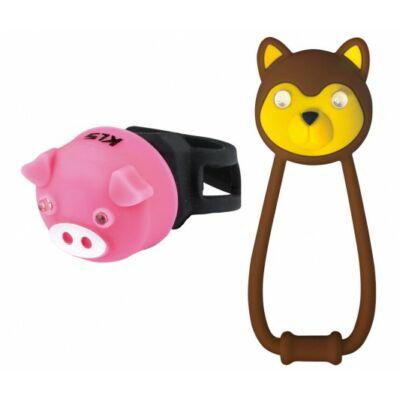 Lámpa szett KLS ANIMAL, brown/pink